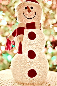 Red and White Snowman Standee Decor