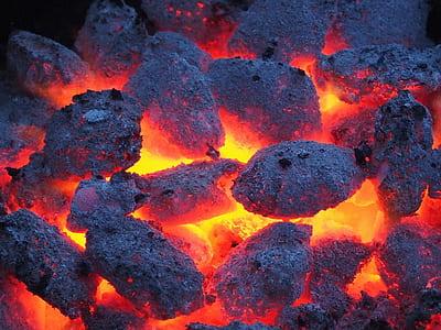 closeup photography of burning charcoal