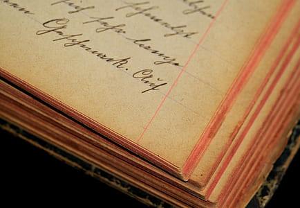brown printed ruled paper