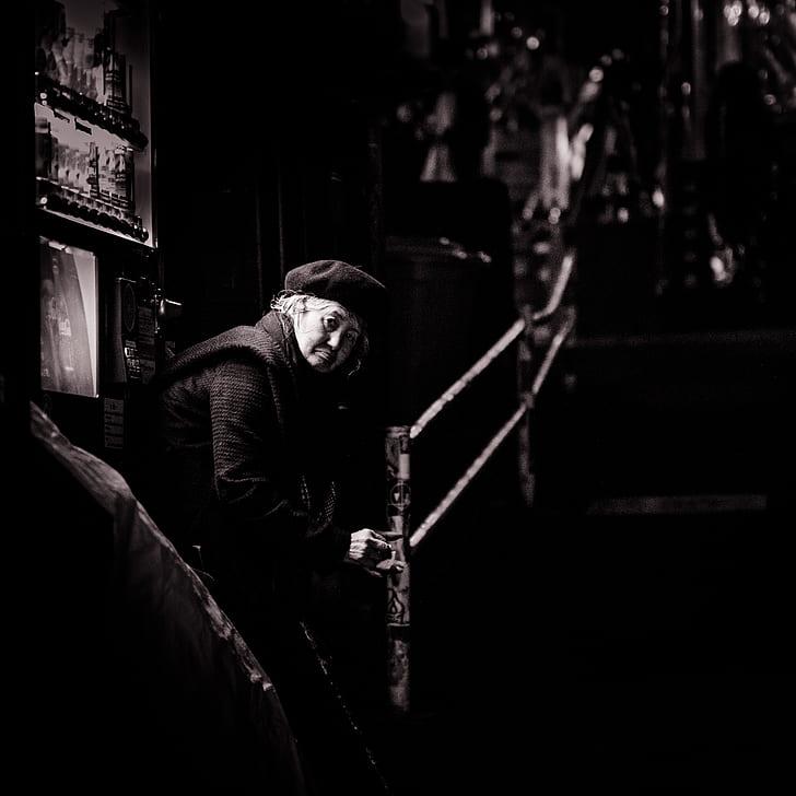 Elderly In Black Longsleeves