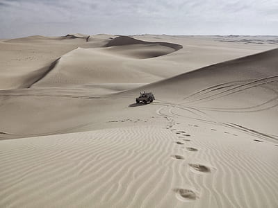 desert, dune, sand, jeep, landscape, 4x4