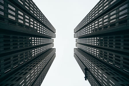 worm's eye view of highest buildings