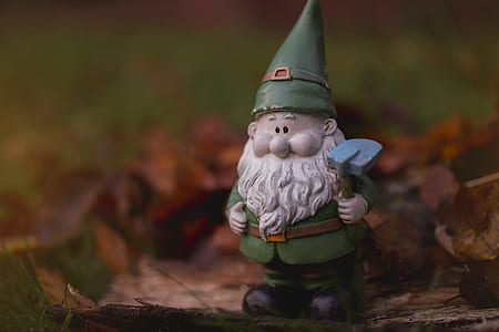shallow focus photography of gnome