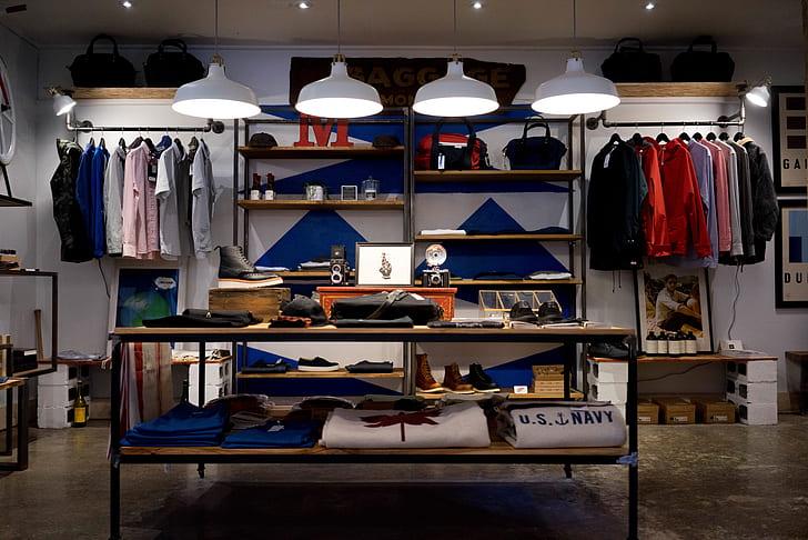 men's apparel store