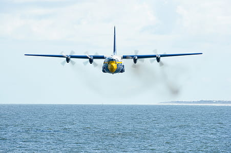 Blue Flying Airplane