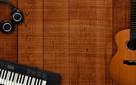 brown acoustic guitar
