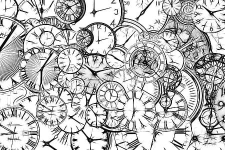 analog watch illustration lot