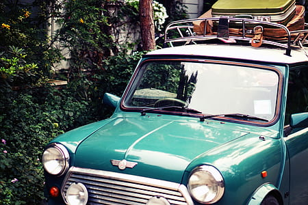 mini, roadtrip, motor vehicle, mini cooper, classic car, vintage car