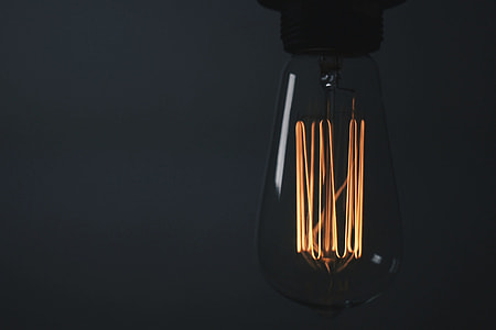 Closeup shot of light bulb details