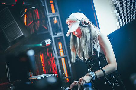 female DJ on stage