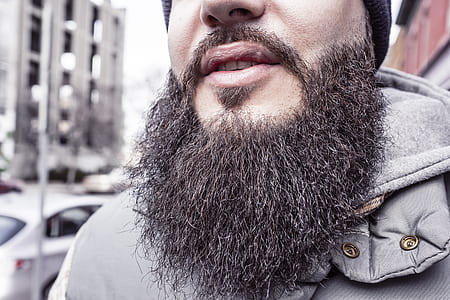 closed photography of man beard