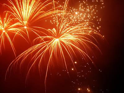 fireworks on sky