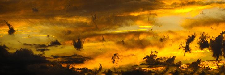 yellow sky photography
