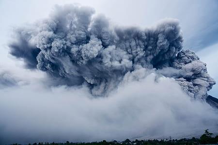 erupted volcano