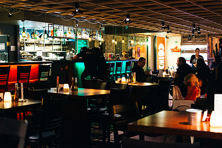 Restaurant's bar interior