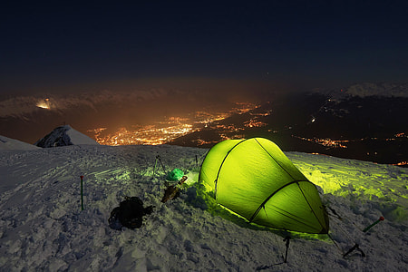 photo of green camping tent