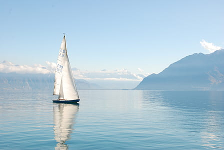 photography of white boat