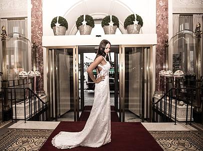 women's white spaghetti strap long dress