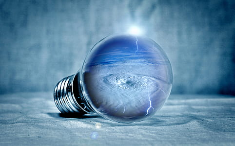 light bulb 3D wallpaper