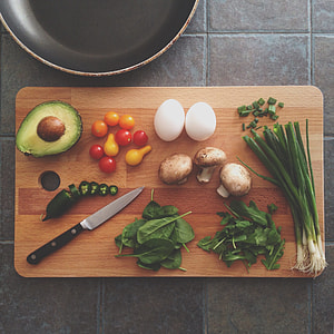 assorted vegetables on brown wooden chopping board