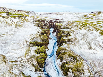 river between mountain peaks