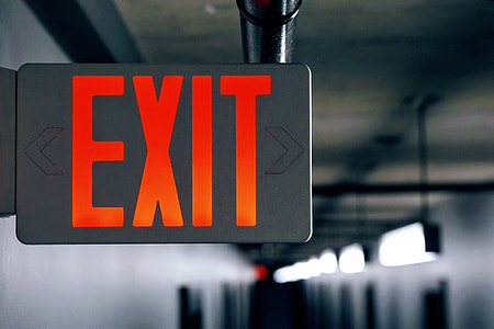 City exit sign