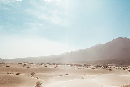 sunlight, blue, sand, desert, heat