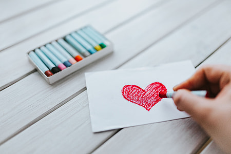 Little drawing of a heart