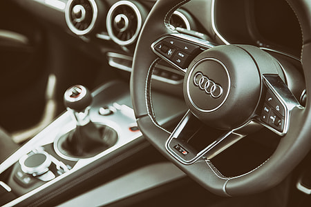 Interior shot of the Audi TTS car, image captured at Goodwood