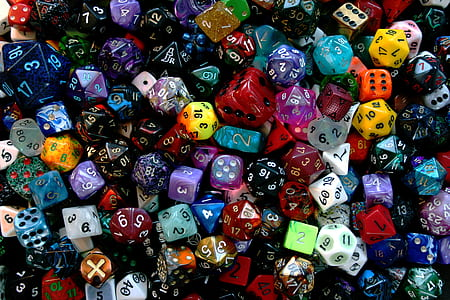 assorted-color dice lot