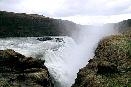 landscape photograph of waterfall