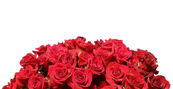 red flower bouquet