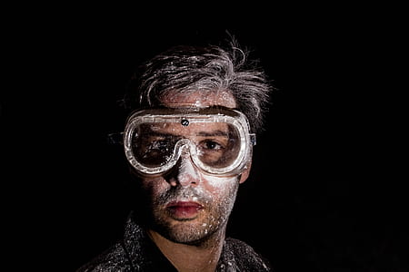 man wearing snorkel goggles