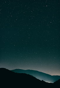 photo of stars during night time