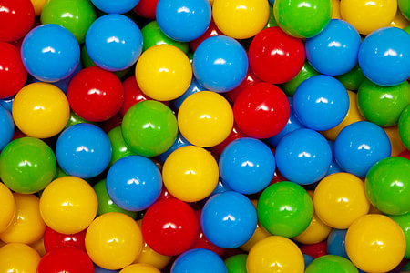 assorted-color gumball lot