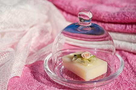 butter on glass plate