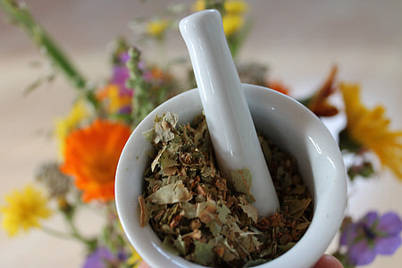 white mortar and pestle