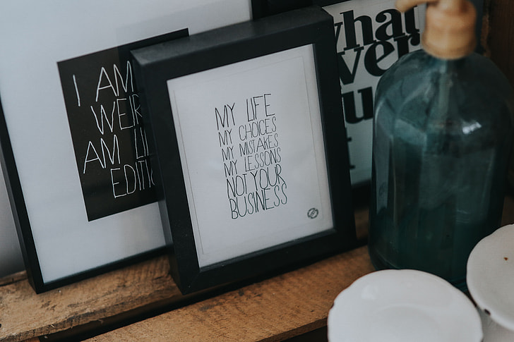Various framed pictures and images