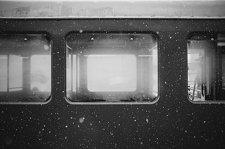 empty train during winter