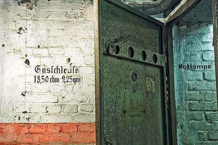 Black Metal Door Open