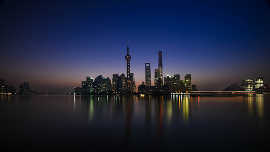 silhouette city building