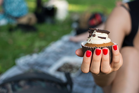 Cupcake in a hand