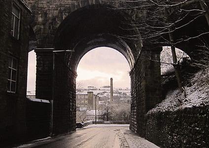 photo of arc shape tunnel