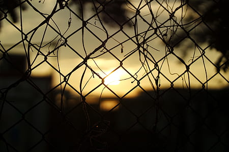 Silhouette Fence during Sunset