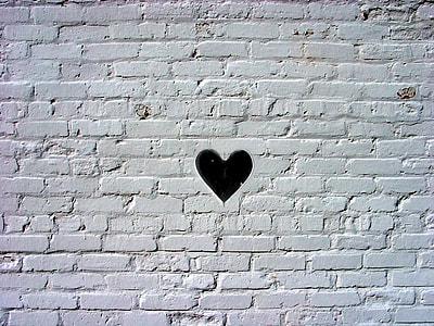 black heart digital wallpaper