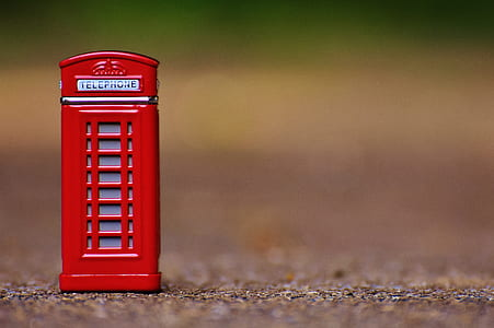 miniature red telephone boot