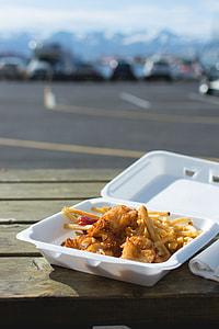 Fish and chips takeaway in Húsavík
