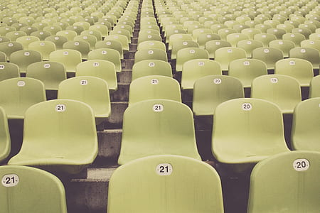 green theater chairs