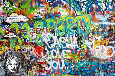 John Lennon graffiti