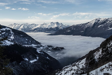 landscape photography of snow mountains